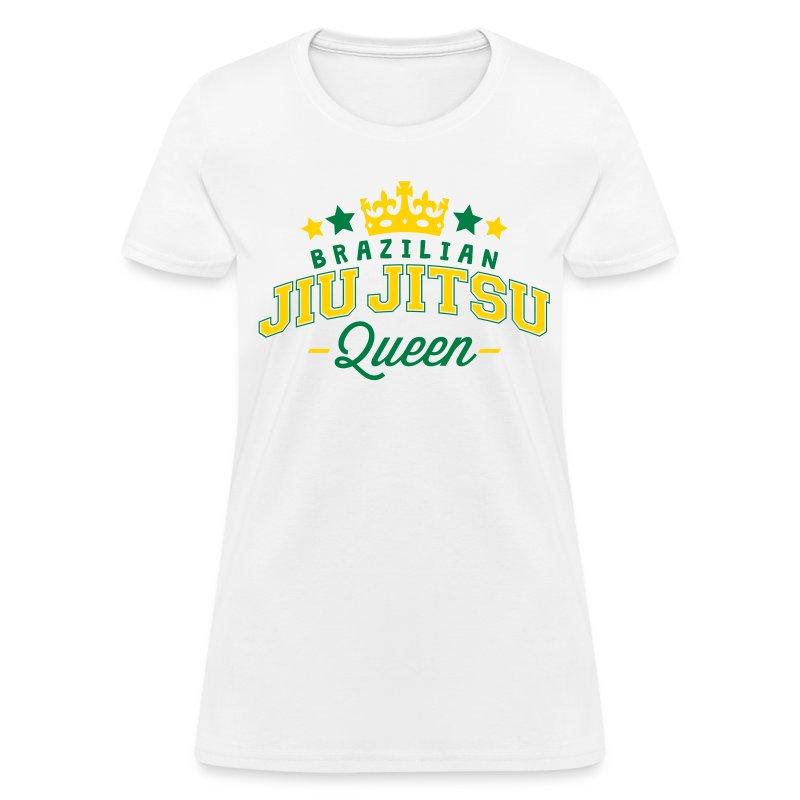 Brazilian jiu jitsu queen 2 col t shirt spreadshirt for Womens brazil t shirt