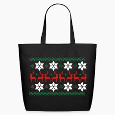 Poinsettia pattern and reindeer pattern  Bags & backpacks