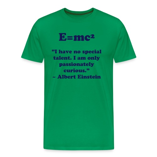 E=mc² Albert Einstein tribute T-shirt - Men's Premium T-Shirt