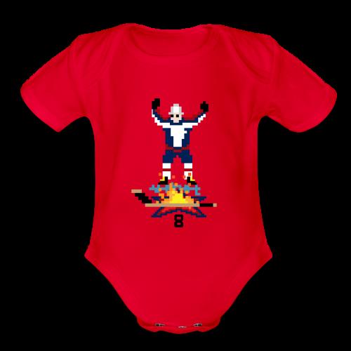 8-Bit Hot Stick Onesie - Organic Short Sleeve Baby Bodysuit