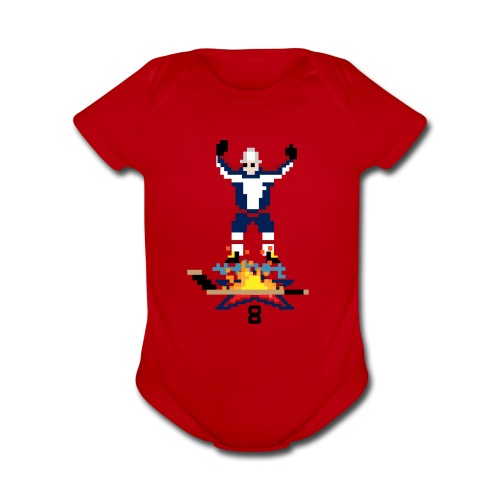 8-Bit Hot Stick Onesie - Short Sleeve Baby Bodysuit