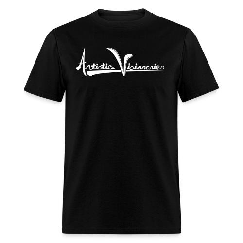 A.V. Men's White Logo Design - Men's T-Shirt