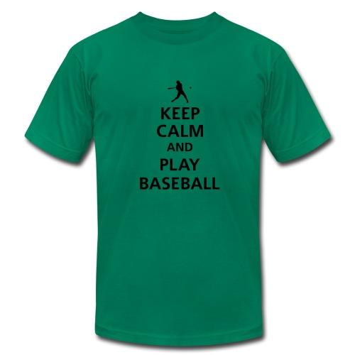 Keep Calm and Play Baseball - Men's Fine Jersey T-Shirt