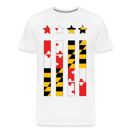 Maryland Flag T- shirt  - Men's Premium T-Shirt