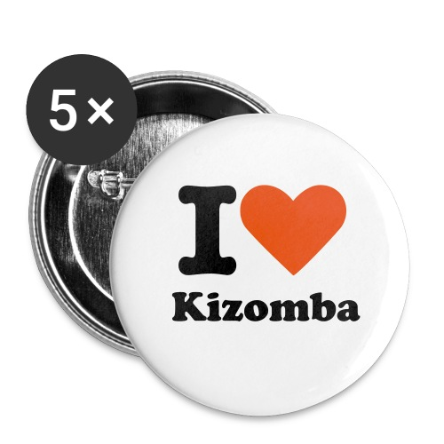 I LOVE KIZOMBA - Large Buttons
