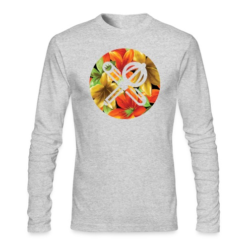 floral crest - Men's Long Sleeve T-Shirt by Next Level