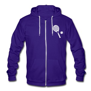 Tennis ball rocket Unisex Fleece Zip Hoodie by Ame - Unisex Fleece Zip Hoodie by American Apparel