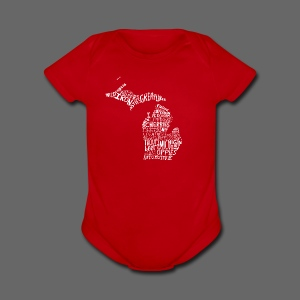 What Makes Up Michigan - Short Sleeve Baby Bodysuit