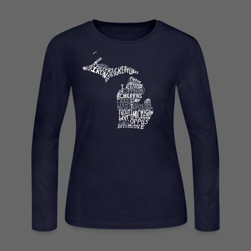 What Makes Up Michigan - Women's Long Sleeve Jersey T-Shirt