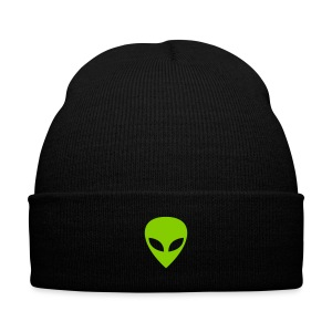 Alien - Knit Cap with Cuff Print
