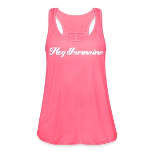 Flowy Tank - White - Hey Jarmaine - Women's Flowy Tank Top by Bella