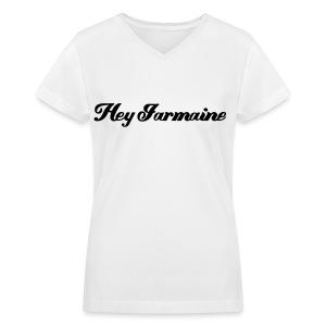 V-neck Hey Jarmaine - Black - Women's V-Neck T-Shirt