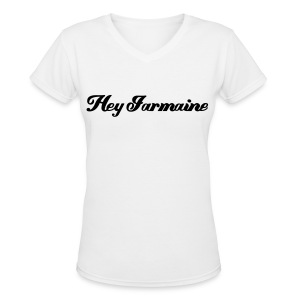 V-neck Hey Jarmaine - Black - Women's V-Neck T-Shirt