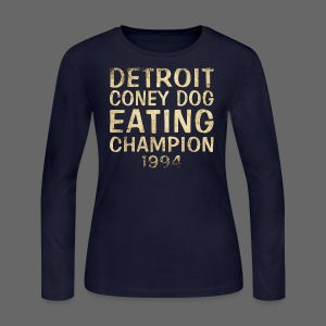 Coney Dog Eating Champion - Women's Long Sleeve Jersey T-Shirt