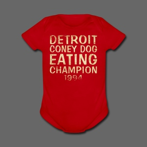 Coney Dog Eating Champion - Short Sleeve Baby Bodysuit