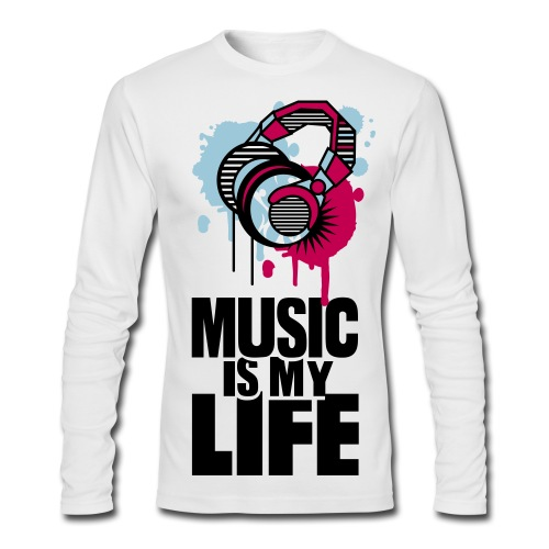 Music - Men's Long Sleeve T-Shirt by Next Level