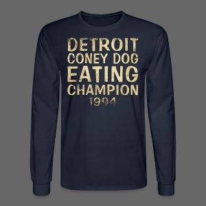 Coney Dog Eating Champion - Men's Long Sleeve T-Shirt