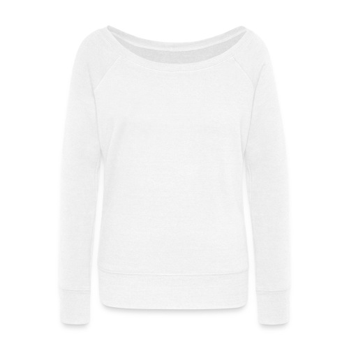 Off Shoulder Pullover Sweatshirt - Women's Wideneck Sweatshirt