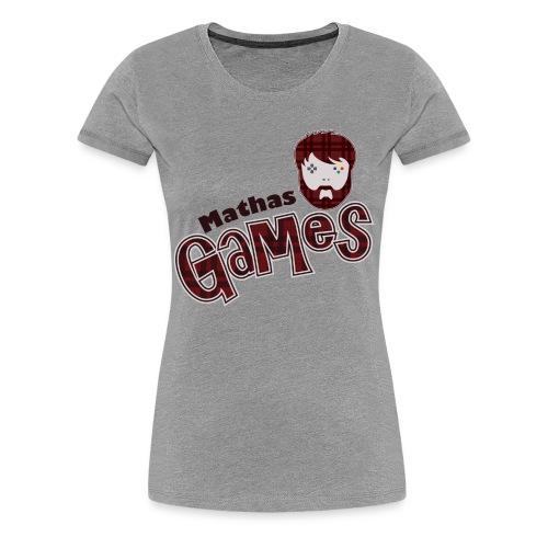 MathasGames Head Logo Variant Womens - Women's Premium T-Shirt