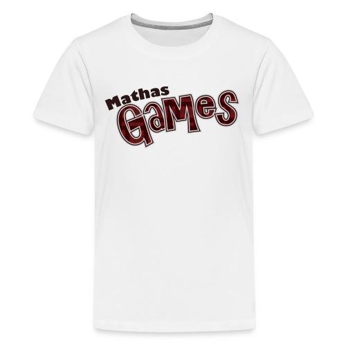 MathasGames Worded Logo Kids - Kids' Premium T-Shirt