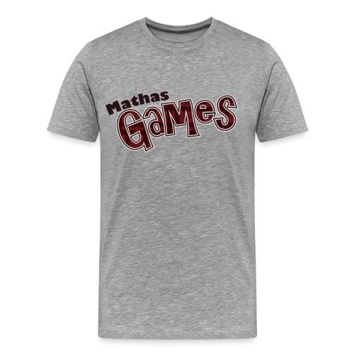 MathasGames Worded Logo Mens - Men's Premium T-Shirt
