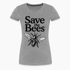 Save The Bees T-Shirt (Women Gray)