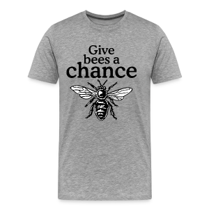 Give Bees A Chance T-Shirt (Men/Gray) - Men's Premium T-Shirt