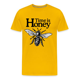 Time is Honey Beekeeper T-Shirt (Men Yellow) - Men's Premium T-Shirt