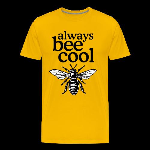 Always Bee Cool Beekeeper T-Shirt (Men/Yellow) - Men's Premium T-Shirt