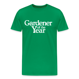 Gardener of the Year T-Shirt (Men Green/White) - Men's Premium T-Shirt