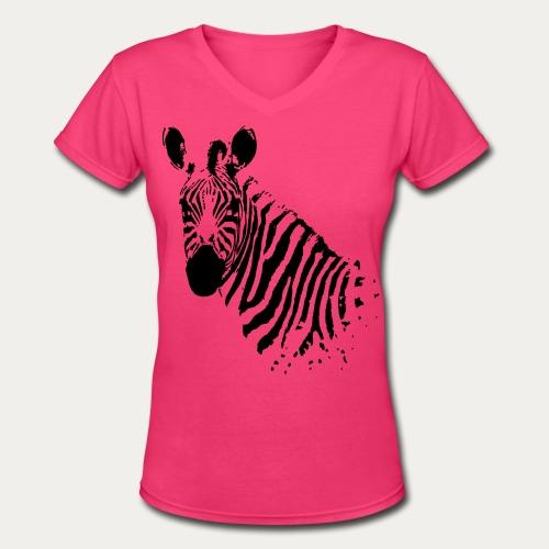 Zebra - Women's V-Neck T-Shirt
