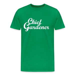 Gardening T-Shirt Chief Gardener (Men Green/White) - Men's Premium T-Shirt