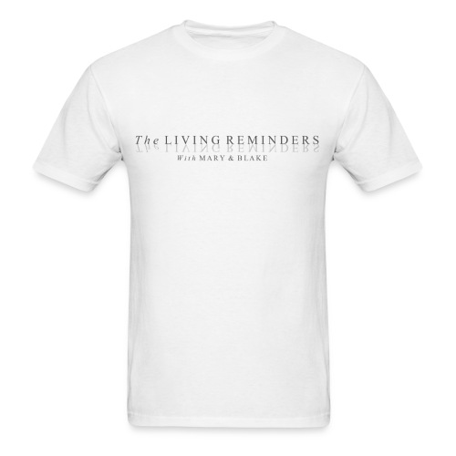 The LIVING REMINDERS LOGO (Light) - Men's T-Shirt