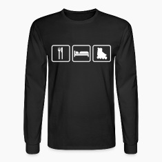 Eat Sleep Skates, Roller Skates, in-line skates Long Sleeve Shirts