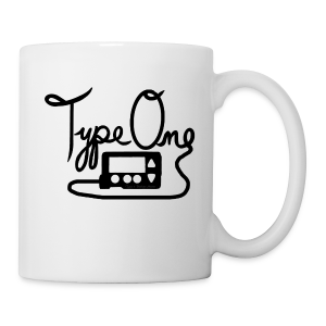 Type One - Pump Design 1 - Black  - Coffee/Tea Mug
