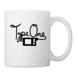 Type One - Pump Design 2 - Black  - Coffee/Tea Mug