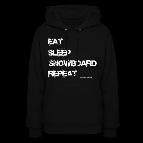 Women's Eat Sleep Snowboard Repeat Hoodie wb - Women's Hoodie
