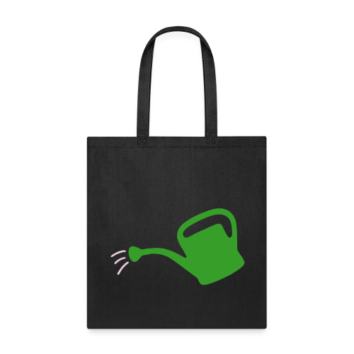 Gardeners' Tote Bag Watering Can (Black) - Tote Bag