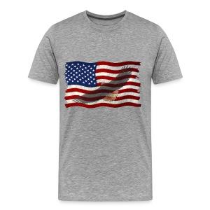 Eagle In  Flag  - Men's Premium T-Shirt
