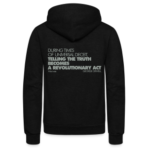 Revolutionary Truth Fleece - Unisex Fleece Zip Hoodie by American Apparel