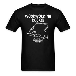 Woodworking Rocks! - Men's T-Shirt