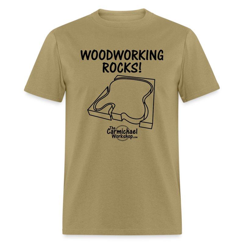 Woodworking Rocks! - Men's T-Shirt