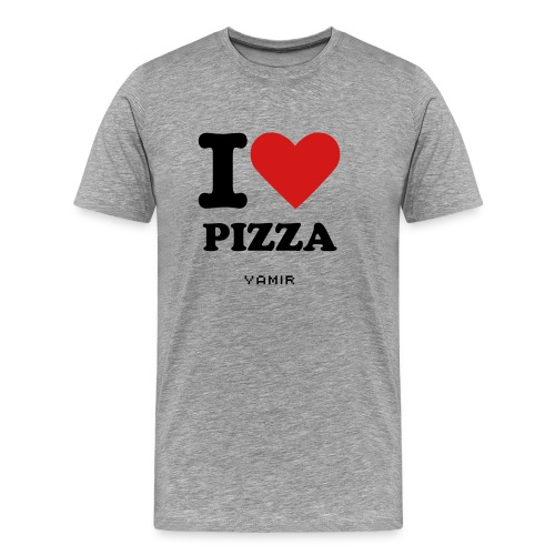 I Heart Pizza Men's Shirt - Men's Premium T-Shirt