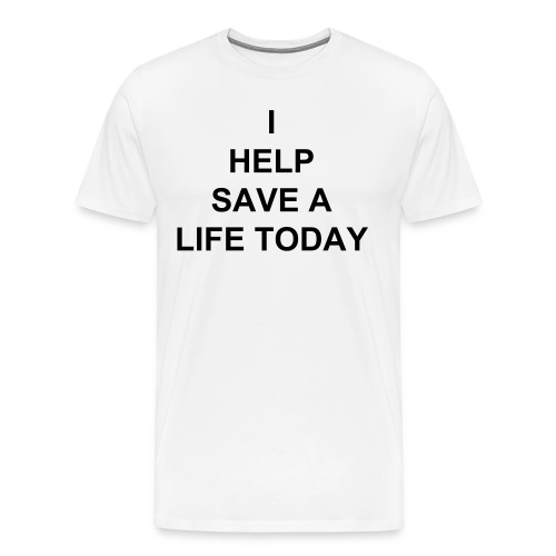 Men's Premium T-Shirt - MY SON HAS A RARE CEREBRAL PALSY WE HAVE INSURANCE BUT AS USUAL THEY DONT ACCEPT IT .THE TREATMENT HE NEEDS IS NOT EVEN AVAILABLE IN THE UNITED STATES .THE PROCEDURE IS A ONE TIME MARROW TRANSPLANT NO AFTER CARE THE PROCEDURE COST $20,000 WHICH INCLUDES AIRFARES STAY AND REHAB .. IM NOT ASKING YOU TO HELP ME SAVE MY HOUSE OR MY CAR IM ASKING CAN YOU HELP ME SAVE MY SON . ID GET DOWN ON MY KNEES AND BEG IF IT MEANT ONE MORE DAY WITH MY SON ... THANK YOU FOR YOUR KINDNESS