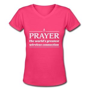 Prayer - Women's V-Neck T-Shirt