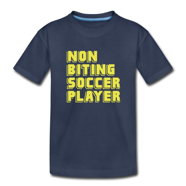 Non-Biting Soccer Player Youth Tee
