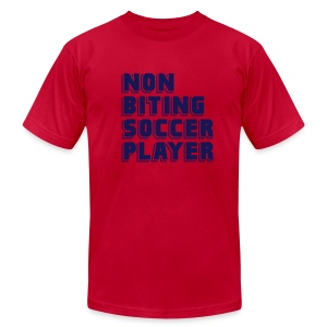 Non-Biting Soccer Player Men's Tee - Men's Fine Jersey T-Shirt
