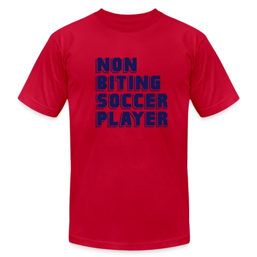 Non-Biting Soccer Player Men's Tee - Men's T-Shirt by American Apparel