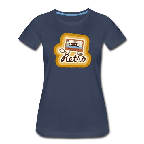 Retro Cassette - Womens - Women's Premium T-Shirt