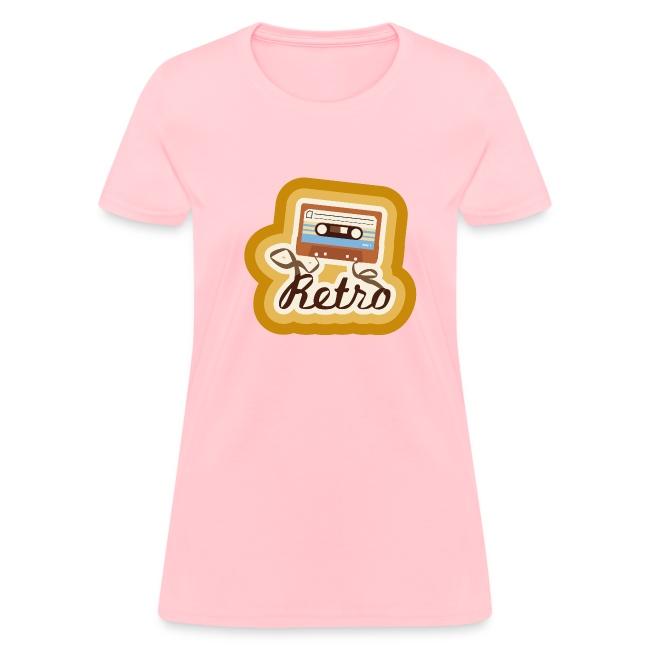 Retro-Cassette -Womens